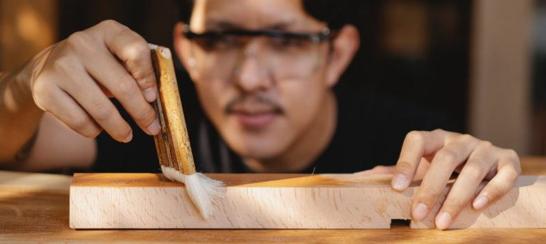 how to remove wood glue before staining
